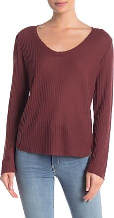 Double Zero Waffle Knit Scoop Neck Sweater