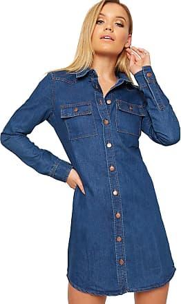 SS7 New Vintage Denim Blue Shirt Dress Sizes 6-14 (16, Vintage Denim)