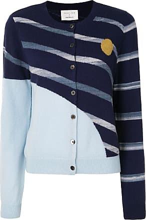 Onefifteen Cardigan com padronagem geométrica - Azul