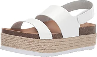 5107e4c97 Dirty Laundry by Chinese Laundry Womens Peyton Espadrille Wedge Sandal,  White Smooth, 8.5 M