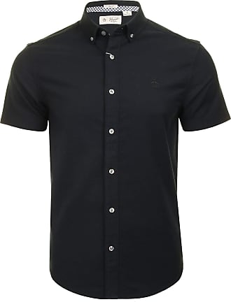 Original Penguin Mens Stretch Oxford Shirt - Short Sleeved (Dark Sapphire) L