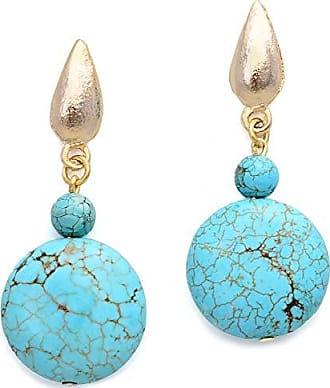 Tinna Jewelry Brinco Dourado Turquesa