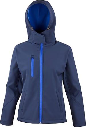 Result Core TX Performance Hooded Womens Softshell Jacket - 4 - Navy/Royal - XL