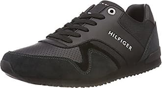 Sneakers Leather Basses Noir 990 EU Hilfiger Homme Runner Textile 42 Iconic Tommy Black gTqwZn