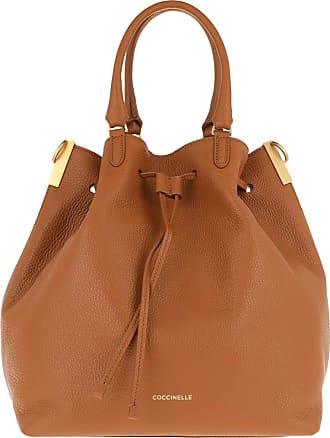 Coccinelle Gabrielle Caramel Bucket Bags cognac