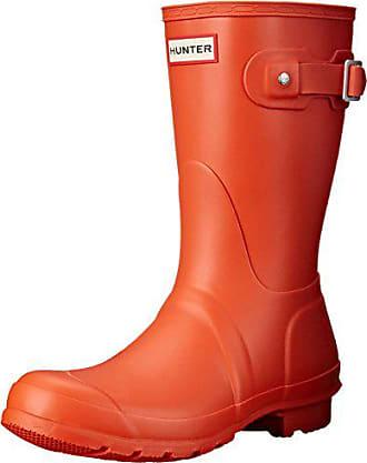 775db04a42e12f Hunter Damen Original Short Winter Regen Schnee Wasserdicht Stiefel - Zelt  Rot - 36
