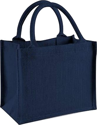 Westford Mill Jute Mini Gift Bag (6 Litres) (One Size) (Navy/Navy)
