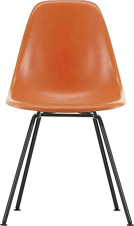 Vitra DSX Fiberglass Side Chair Dark Base