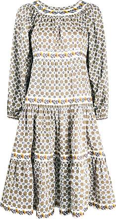 Tory Burch Kleid mit Puffärmeln - Weiß