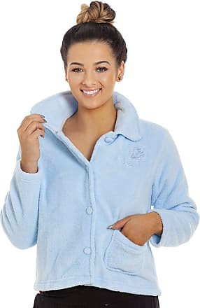 Camille Womens Soft Button and Zip Bed Jackets and Designs 22/24 Blue