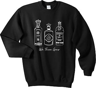 Sanfran Clothing Sanfran - We Three Gins Top Christmas Xmas Funny Kings Gin Ugly Cute Jumper Sweater - Medium/Black