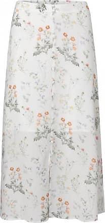 YaYa Ein Linienrock mit Knöpfen und Blumendruck - 10