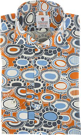 Cordone 1956 Camicia sartoriale Mod. Pantelleria - Tessuto cotone - popeline - Colore arancio - Taglia 36