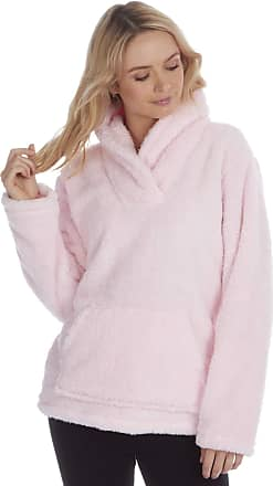 Forever Dreaming Womens Bed Jacket - Fleece Pyjama Snuggle Top - Shawl Collar - Sizes S-XL Pink