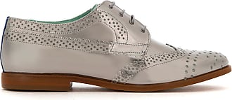 Blue Bird Shoes Oxford de couro metalizado - Cinza