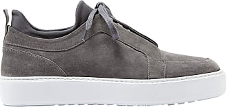 883 Police Mens Sneakers Commom Grey Suede Leather Sneakers (Numeric_8)