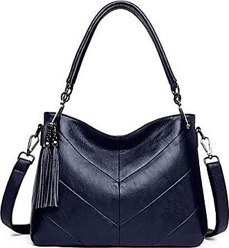 Damen PU-Leder Geldbörse Satchel Schulter Zipper Tasche Mode Tide Umhängetasche