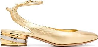 Casadei Sapato bico redondo Trio - Dourado