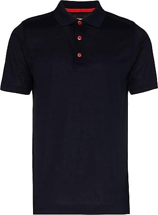 Kiton placket polo shirt - Blue