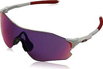 Oakley Mens Evzero Path Non-Polarized Iridium Rectangular Sunglasses, Matte White w/Prizm Road, 138 mm