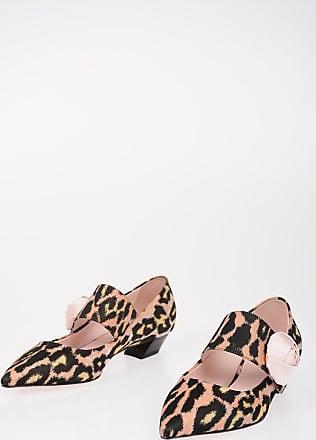 Roger Vivier Animal Printed ROSE BUTTON Pumps 5 cm Größe 37,5