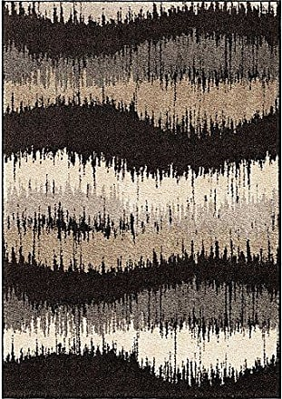 Orian Rugs American Heritage Brushed Waves Area Rug, 53 x 76, Gray