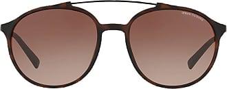 A|X Armani Exchange Óculos de sol arredondado - Marrom