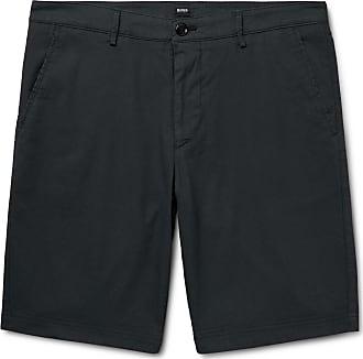 63aa2c43 HUGO BOSS Slim-fit Overdyed Stretch-cotton Shorts - Navy