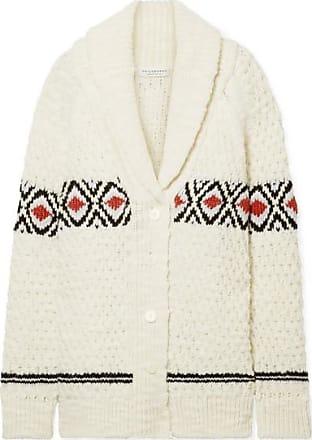 Philosophy di Lorenzo Serafini Oversized Intarsia Wool Cardigan - Cream