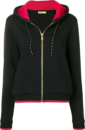 Versace Jeans Couture Moletom VJ com logo bordado e capuz - Preto