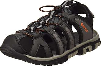 Hi-Tec Mens Haraka Breeze Closed Toe Sandals, Black (Charcoal/Cool Grey/Black/Red Orange 51), 6.5 (40 EU) ( EU)