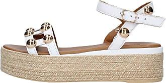 Inuovo Ada Platform Yute Sandal, White, 6 (39)