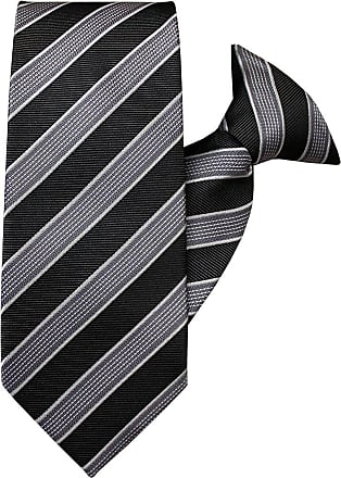 Silver Squares Clip On Tie JH-1020