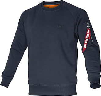 Alpha Industries X-Fit Sweat Pullover repl.-blue, Größe XXL