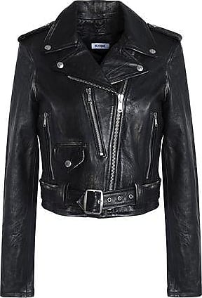 Re/Done Re/done By Levis Woman Leather Biker Jacket Black Size S