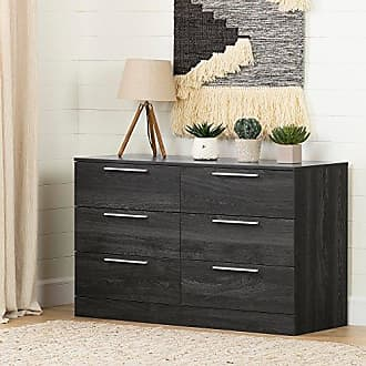 South Shore Furniture 12233 Step One Essential 6-Drawer Double Dresser Gray Oak