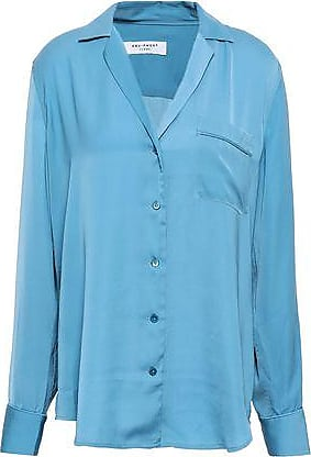 Equipment Equipment Woman Kiera Crepe De Chine Shirt Light Blue Size XS