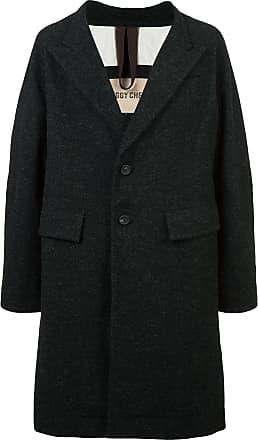 Ziggy Chen oversized single-breasted coat - Black