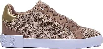 Guess Scarpe Donna Sneaker Puxly in Tessuto/Ecopelle scamosciata Beige/Brown DS20GU13