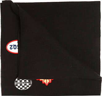 Dsquared2 Patched Wool Scarf Mens Black