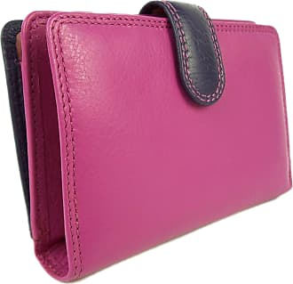 Visconti Quality Ladies Soft Leather PURSE Wallet by Visconti Gift Boxed - Berry