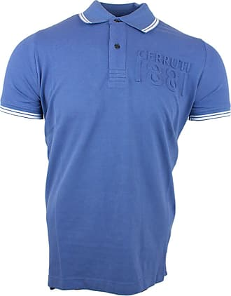 Cerruti 1881 Mens Cotton Polo Shirt with Short Sleeves and Border - - XX-Large