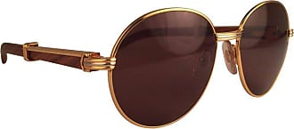 aaa42dd73f Cartier New Cartier Wood Bagatelle Round Gold   Precious Palisander 52mm  Brown Lens