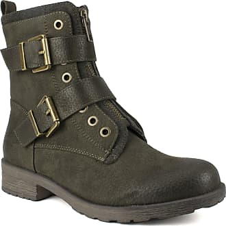 White Mountain Shoes SAN Diego Womens Boot, Army/Fabric, 6H M