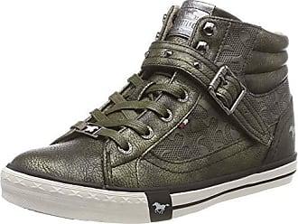 Mustang High Top Sneaker, Baskets Hautes Femme, Vert (Oliv 77), 39 b6d787fca66b