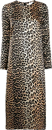Ganni leopard print dress - Neutro