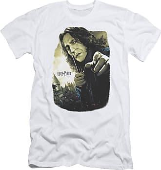Harry Potter Mens Snape Poster Slim Fit T-Shirt White - White - XXL