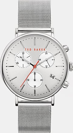 Ted Baker Milanese Mesh Band Watch in Silver Colour MIMOCH, Mens Accessories