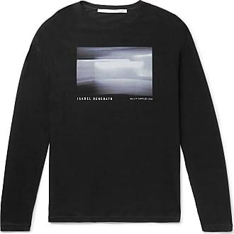 Isabel Benenato Printed Cotton-jersey T-shirt - Black