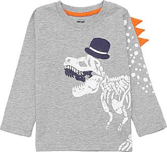 Tip Top Camiseta Tip Top Infantil T-Rex Cinza